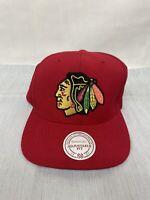 Chicago Blackhawks NHL Vintage Mitchell & Ness Red Snapback Hat Cap
