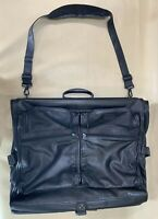 Preowned TUMI Alpha Bi-Fold Black Nappa Leather 931D3 Carry On Garment Bag