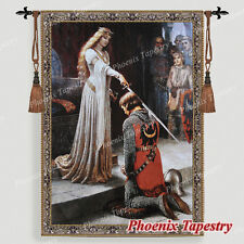 "The Accolade Medieval Fine Art Tapestry Wall hanging, 55""x39"", US"
