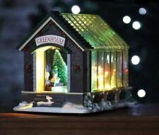 Weihnachten Gewächshaus Szene Dekoration Pre-Lit LED Batterie Xmas Licht Dorf