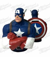 Marvel Comics Captain America Figure Statue Bust Licensed Piggy Coin Bank