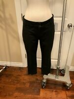 "Anthropologie ""The Essential Slim' Crop Black Chino Pants, Size 6P (US), 10 (UK)"