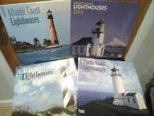 Mix Lot: Lighthouses Calendar Pacific Coast,Atlantic Coast Years 2013,2014,2016