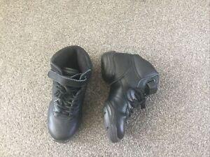 Dance Trainers Jazz Boots Split Sole Black Leather Size UK 2.5