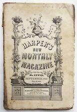 1852 Harpers New Monthly Magazine September Dickens Bleak House Ch. 17-19 Fair