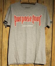 Justin Bieber Purpose Tour Gray Grey T-Shirt Adult Size Medium +
