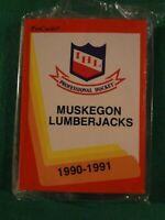 1990-91 PROCARDS IHL MUSKEGON LUMBERJACKS SEALED TEAM SET