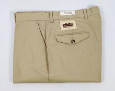 NEW Patrick James Men's Khaki Flat Front Golf Pants Slacks - Size 34W x 29L