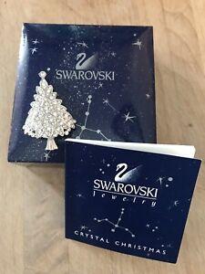 Swarovski Crystal Christmas Tree Pin Brooch 2000