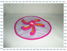 H- Doudou Semi Plat Rond Pieuvre Rose Orange Badabulle