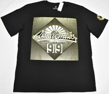 Akademiks T-Shirt Men's 3XL 3XB 3X Gold Foil Plastisol Graphic Tee Black P245
