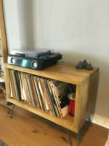 Vinyl Album Record Wooden Storage Rustic Reclaimed Solid Wood Handmade
