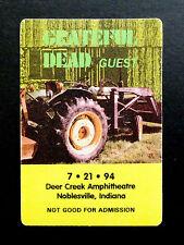 Grateful Dead Backstage Pass Farm Tractor Loader Deer Creek Indiana 7/21/1994 IN