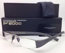 New Reader! PORSCHE DESIGN Eyeglasses P'8801 F 48-20 +2.00 Silver Frame Readers