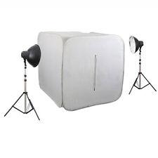 METTLE Studioset CUBE 500 mit Lichtzelt, Fotozelt 80cm & Studioleuchten 8x32 W