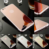Ultra-Slim Mirror Soft Silicone TPU Hard Back Case Cover For iPhone SE 6 6s Plus