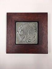 Possum Ceramic Handmade Emu Tile Framed Arts & Crafts Mission Style Oak Park