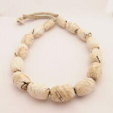 "Naga Sacred Conch Chank Shell Necklace 20"" Tibetan Neplaese Handmade UN1796"