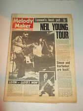 MELODY MAKER 1972 JUNE 10 JOHN LENNON NEIL YOUNG SIMON AND GARFUNKEL LISTEN