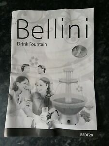 Bellini electric illuminated cocktail party drinks fountain - celebration