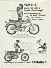 1965 Yamaha Rotary Jet 80 Motorcycle Annette Bening Photo Vintage Print Ad YG1SK