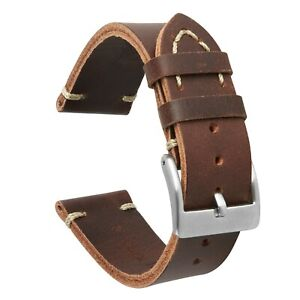 VintageTime Watch Straps - Vintage Style Calf Leather Replacement Watch Bands