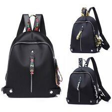 Fashion Women  Black Shoulder School Backpack Travel Bag Nylon Rucksack Handbag