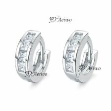 Crystal Clip - On White Gold Filled Fashion Earrings