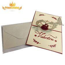 New 3D Pop Up Love Greeting Card Valentine Wedding Anniversary Gift, USA