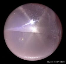 Stella ROSE Quarzo Sfera EDELSTEIN SFERA Star Rose Quartz Gemstone Sphere 40 mm