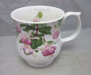 Queen's fine bone china cup. Lena La Campanella flower