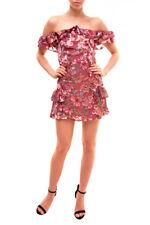 For Love & Lemons Women's Flora Off Shoulder Mini Dress Multi S RRP $288 BCF83