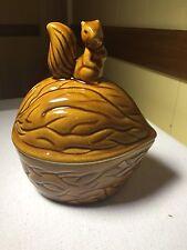 Vintage Walnut Squirrel Ceramic 7.5in Cookie Jar  Nut House Nice