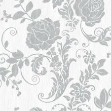 NERISSA FLORAL TRAIL CREAM GOLD LUXURY HEAVYWEGHT VINYL WALLPAPER RASCH 764901