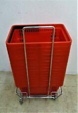 15x Cestini di Acquisto Rosso Nuovo 22 L+Vagoni Usato Supermarkt Carrello Spesa