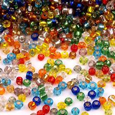 Lot Mix 8000 Perles de Rocailles en verre 2mm Trou Argenté 100g (12/0)