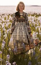Far Fields Midi Dress Bhanuni SZ 2P P2 Boho Peasant NWT $248