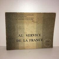 Plaquette 39-45 AU SERVICE DE LA FRANCE 1940-1944 ww2 seconde guerre - BB85B