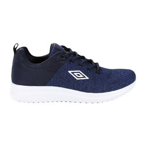 Scarpe Uomo Umbro Genius Mesh Basse Blu Sportive Sneakers Casual Stringhe
