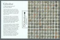 Gibraltar-Penny Black min sheet 2015 mnh Postal History
