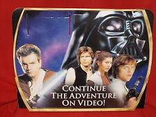 STAR WARS 3D STORE DISPLAY HEADER-VIDEO ADVERTISEMENT 1999-GOOD USED CONDITION