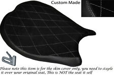 GREY DIAMOND STITCH DESIGN CUSTOM FITS DUCATI 1198 848 1098 FRONT SEAT COVER