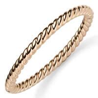 Kordel Armreif Armband Armschmuck aus 585 Gold Rotgold 6mm breit, glänzend