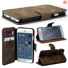 Vintage Retro Leather Flip Wallet Case Stand Cover Holder For iPhone 6 / 6s Plus