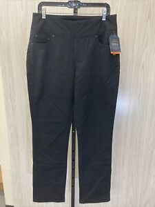Jag Jeans Peri Pull-on Straight Leg Pants - Women's Size 14, Black