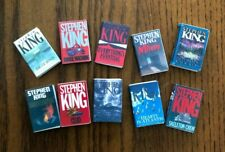 Dollhouse Miniatures! Set #4 of 10 Stephen King Books! Readable!