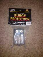 CCTV Fixed Camera Surge Protector DTK-PVP27B 12/24V Power Coax Video