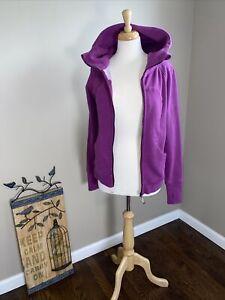 LULULEMON Scuba hoodie lll  jacket lightweight cotton fleece size 8 regal plum