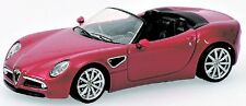 Alfa Romeo 8c Spider Red Metallic 1:64 model Minichamps