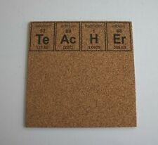 Teacher Periodic Table of Elements Etched Cork Board Push Pin Teacher Gift